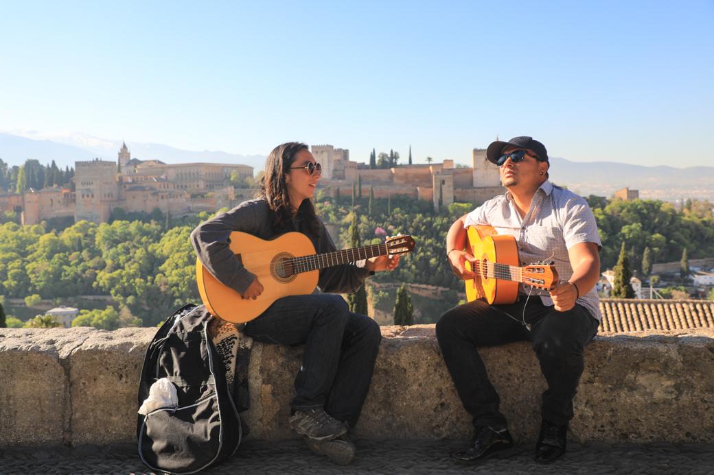 Uitzicht op het Alhambra in Granada