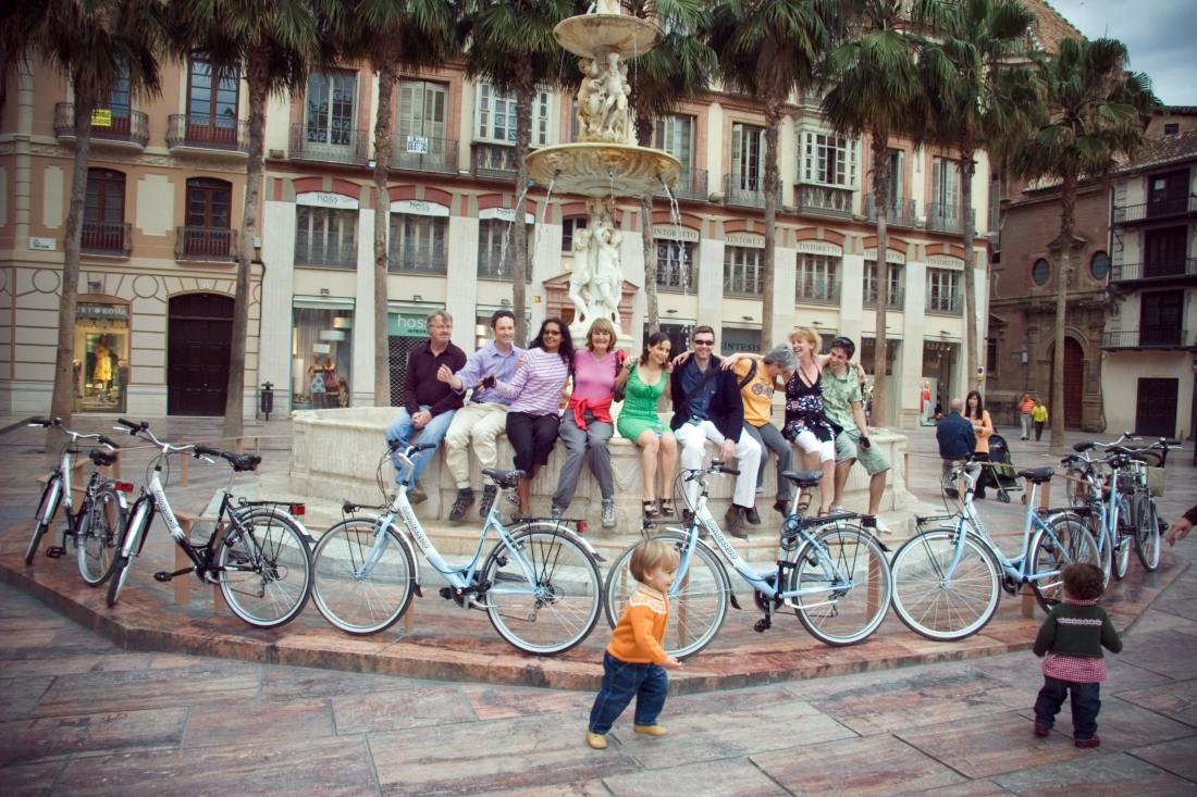 fietstocht in Malaga